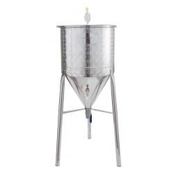Δοχείο ανοξείδωτο κωνικό, ζυμωτήριο μπύρας Sansone 80Lt