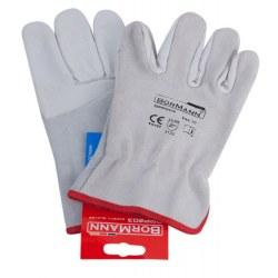 Γάντια δερμάτινα άσπρα BORMANN