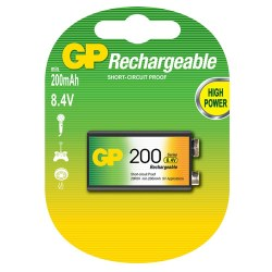 Επαναφορτιζόμενες μπαταρίες 200mAh 8.4V