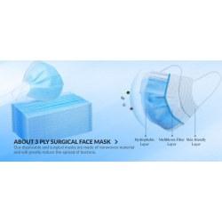 Χειρουργική μάσκα προσώπου 3PLY (25 τεμάχια)