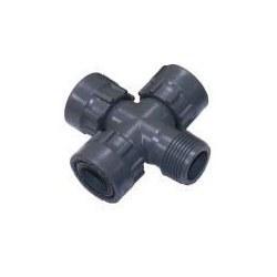 """Σταυρός PVC Α-Θ-Θ-Θ 1""""X1""""X1""""X1"""""""