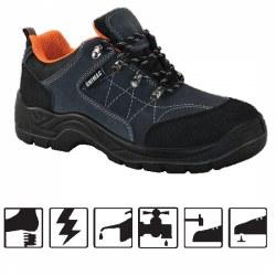 Παπούτσια εργασίας S1P από δέρμα σουέτ χρώματος γκρι