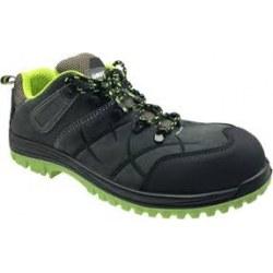 Παπούτσια ασφαλείας S1P από δέρμα σουέτ χρώματος γκρι/μαύρο