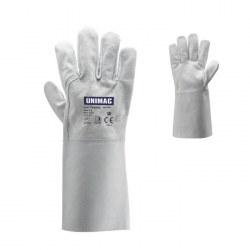 Γάντια UN 502 TIG με παλάμη από δέρμα κατσίκας και ράχη κρούτας