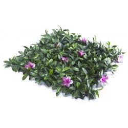 Συνθετικό πάνελ φυλλωσιάς 50χ50 με λουλούδι ροζ